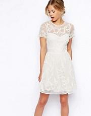 Shop ASOS online and buy ASOS Pretty Gothic Embellished Skater Dress