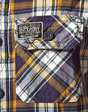 Image 3 ofSuperdry Lumberjack Twill Brush Long Sleeve Shirt