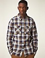 Image 1 ofSuperdry Lumberjack Twill Brush Long Sleeve Shirt