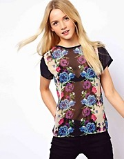 A Wear Printed Chiffon Tee