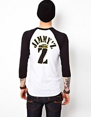 Jimmy&#39;Z 3/4 Sleeve Top Malibu Baseball