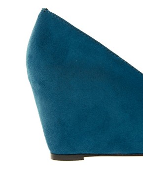 Image 3 ofASOS STATUS Pointed Wedges with Metal Toe Cap