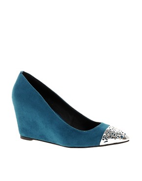 Image 1 ofASOS STATUS Pointed Wedges with Metal Toe Cap