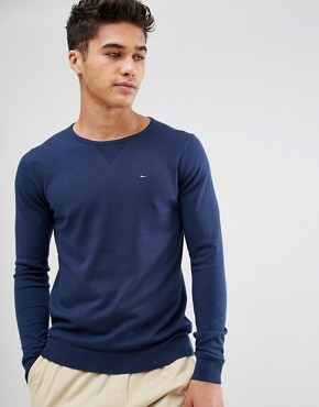 Hilfiger Denim Jumper with Crew Neck In Navy