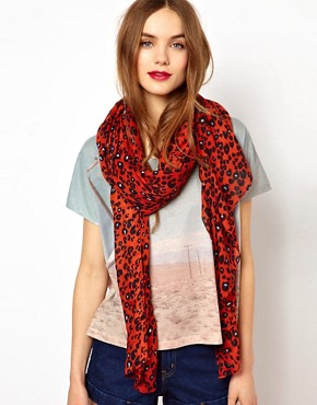 Image 1 ofFrench Connection Lazy Leo Scarf
