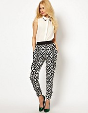 River Island Ikat Print Trousers