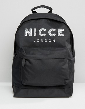 Nicce Logo Backpack In Black