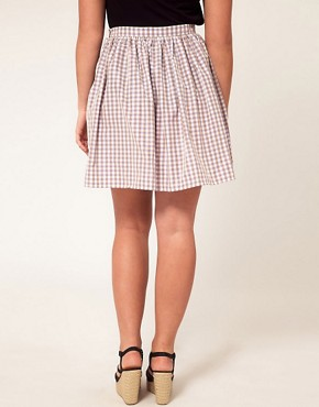 Image 2 ofASOS CURVE Exclusive Skirt In Pretty Gingham