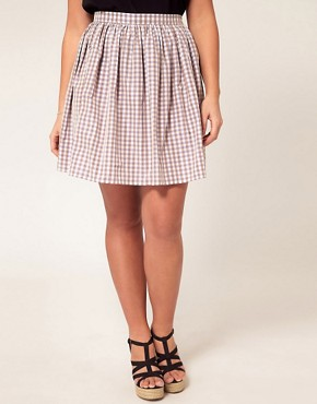 Image 4 ofASOS CURVE Exclusive Skirt In Pretty Gingham