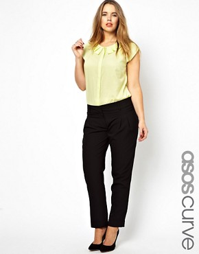 Image 1 ofASOS CURVE Peg Trouser