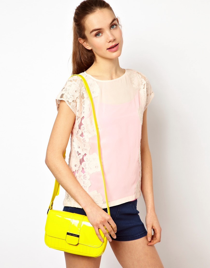 Image 3 of Ted Baker Skapari Patent Crossbody Bag