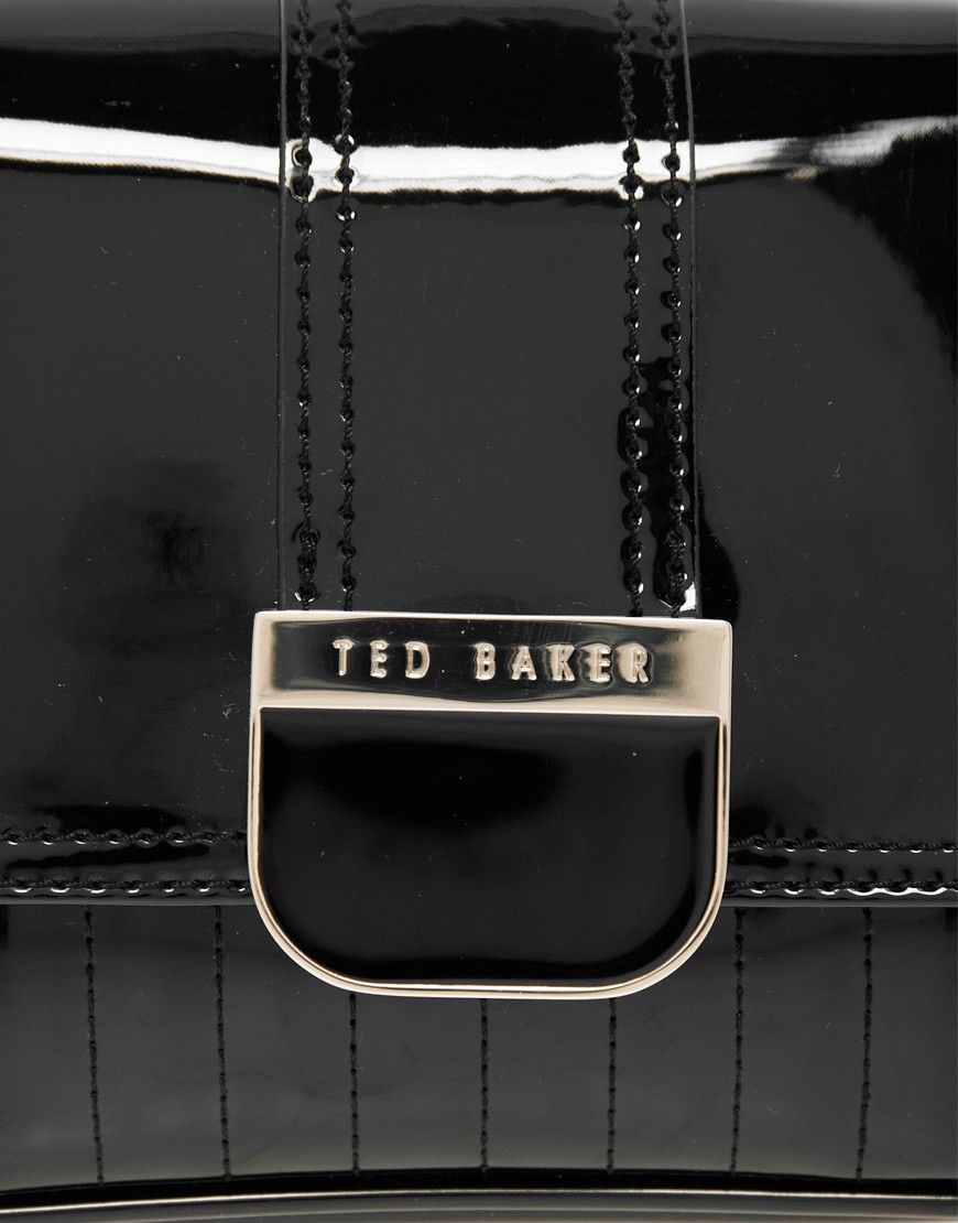 Image 4 of Ted Baker Skapari Patent Crossbody Bag