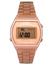 Casio Rose &ndash; B640WC-5AEF &ndash; Goldene, digitale Armbanduhr