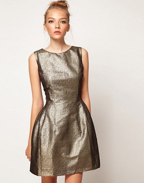 Image 1 ofA Wear Metallic Lantern Dress