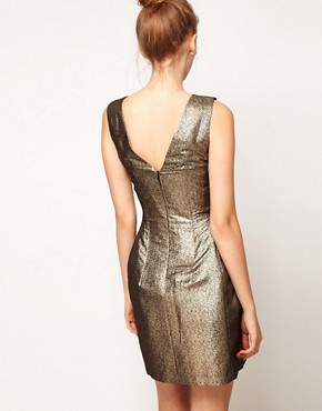 Image 2 ofA Wear Metallic Lantern Dress