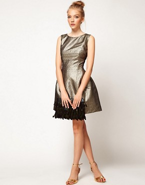 Image 4 ofA Wear Metallic Lantern Dress