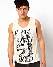 Your Eyes Lie Vest with Horse Head Print