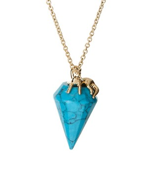 Image 4 ofWildfox Stone Drop Pendant Necklace