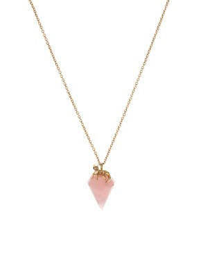 Image 1 ofWildfox Stone Drop Pendant Necklace