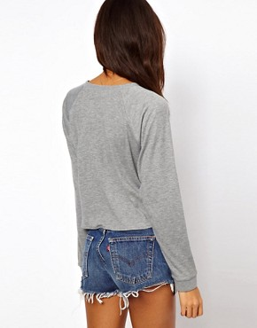 Image 2 ofASOS Jumper with Supersoft Raglan Tie Front