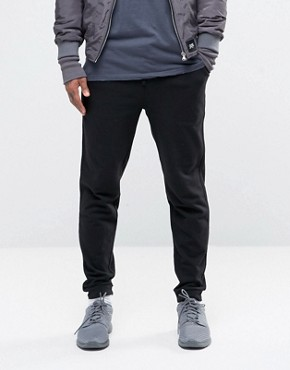 ASOS Jersey Joggers In Black