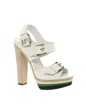Image 1 ofALDO Vivola Buckled Heeled Sandals