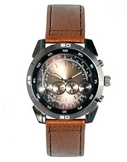 River Island 4 Dials Round Watch