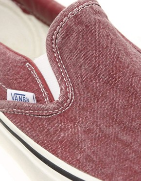 Image 2 ofVans Classic Slip-On Washed Plimolls
