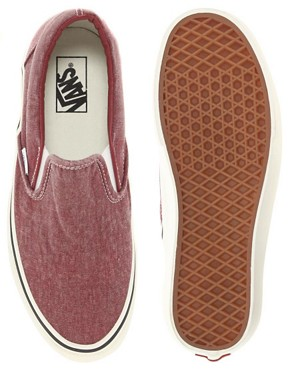 Image 3 ofVans Classic Slip-On Washed Plimolls