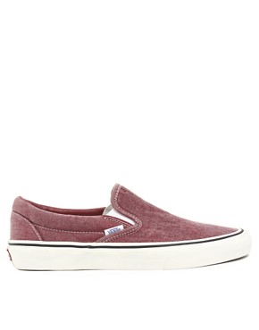 Image 4 ofVans Classic Slip-On Washed Plimolls