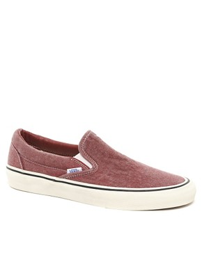 Image 1 ofVans Classic Slip-On Washed Plimolls
