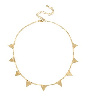 Image 2 ofASOS 2 Pack Triangle &amp; Horn Necklaces