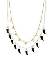 ASOS 2 Pack Triangle &amp; Horn Necklaces