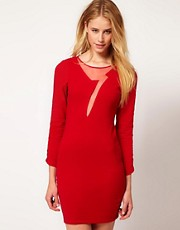 Ruby Rocks Lightening Cut Out Dress