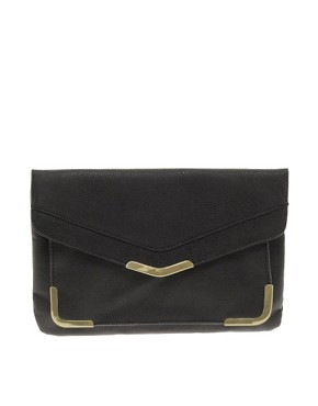 Image 1 ofASOS Metal Corner Envelope Clutch Bag