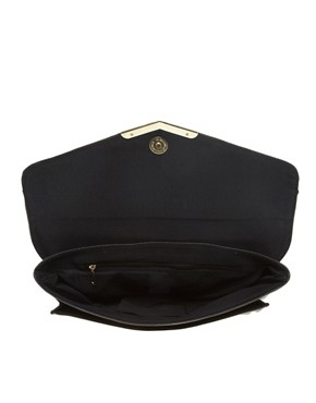 Image 2 ofASOS Metal Corner Envelope Clutch Bag