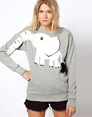 ASOS Sweatshirt with Elephant Print