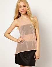 River Island Sleeveless Embellished Tunic