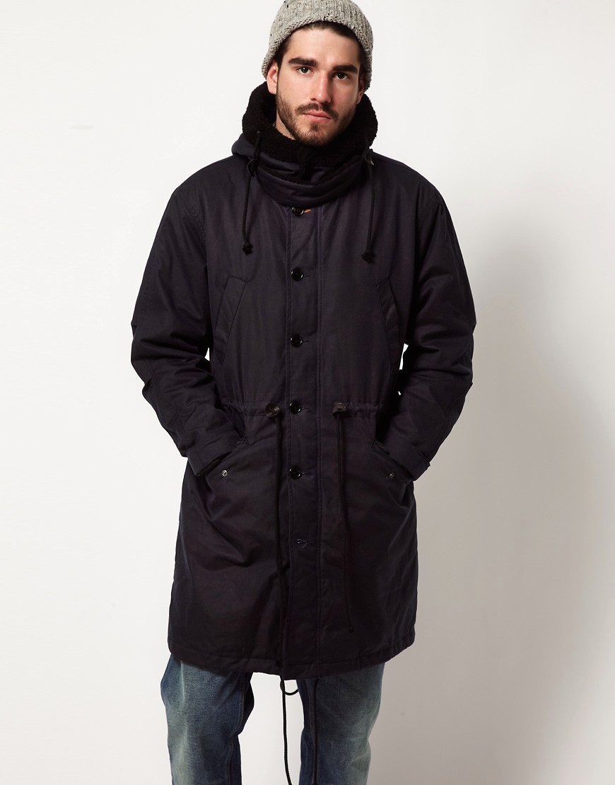 Image 1 ofNudie Pollux Waxed Parka