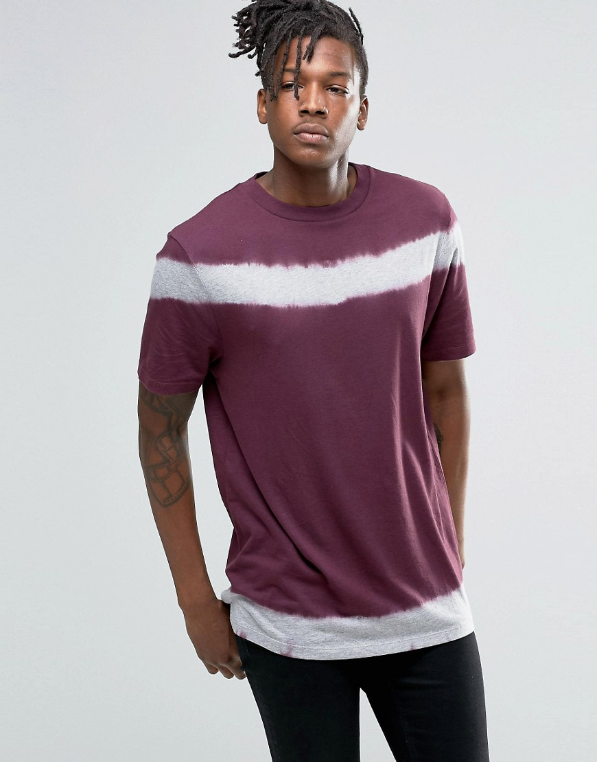 ASOS T-Shirt With Tie Detail And Wide Neck Trim - Purple