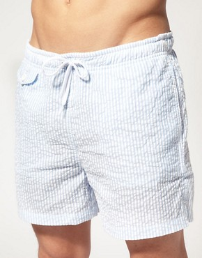 Bild 1 von ASOS  Gestreifte Badeshorts