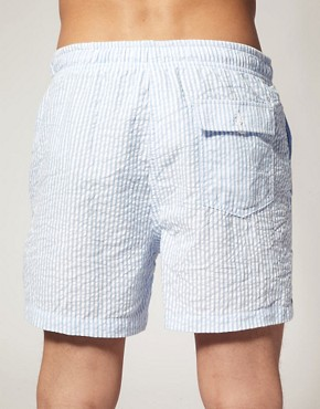 Bild 2 von ASOS  Gestreifte Badeshorts