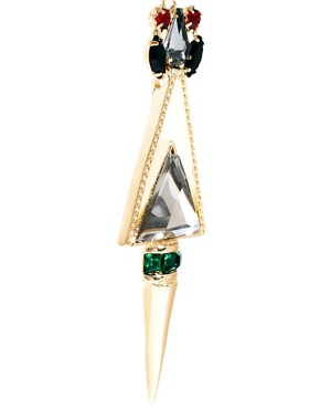 Image 3 ofASOS Jewelled Triangle Earrings