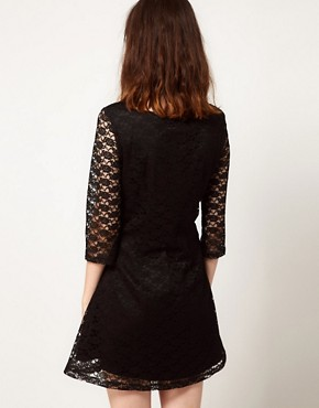 Image 2 ofNishe Lace Dress With Collar
