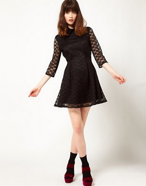 Image 4 ofNishe Lace Dress With Collar