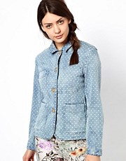 Paul by Paul Smith Worker Jacket in Polka Dot Denim