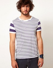 ASOS Stripe T-Shirt With Contrast Stripe Sleeves