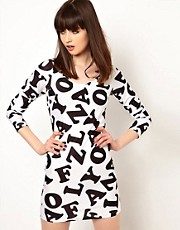 Lazy Oaf Exclusive Letter Body Con Dress
