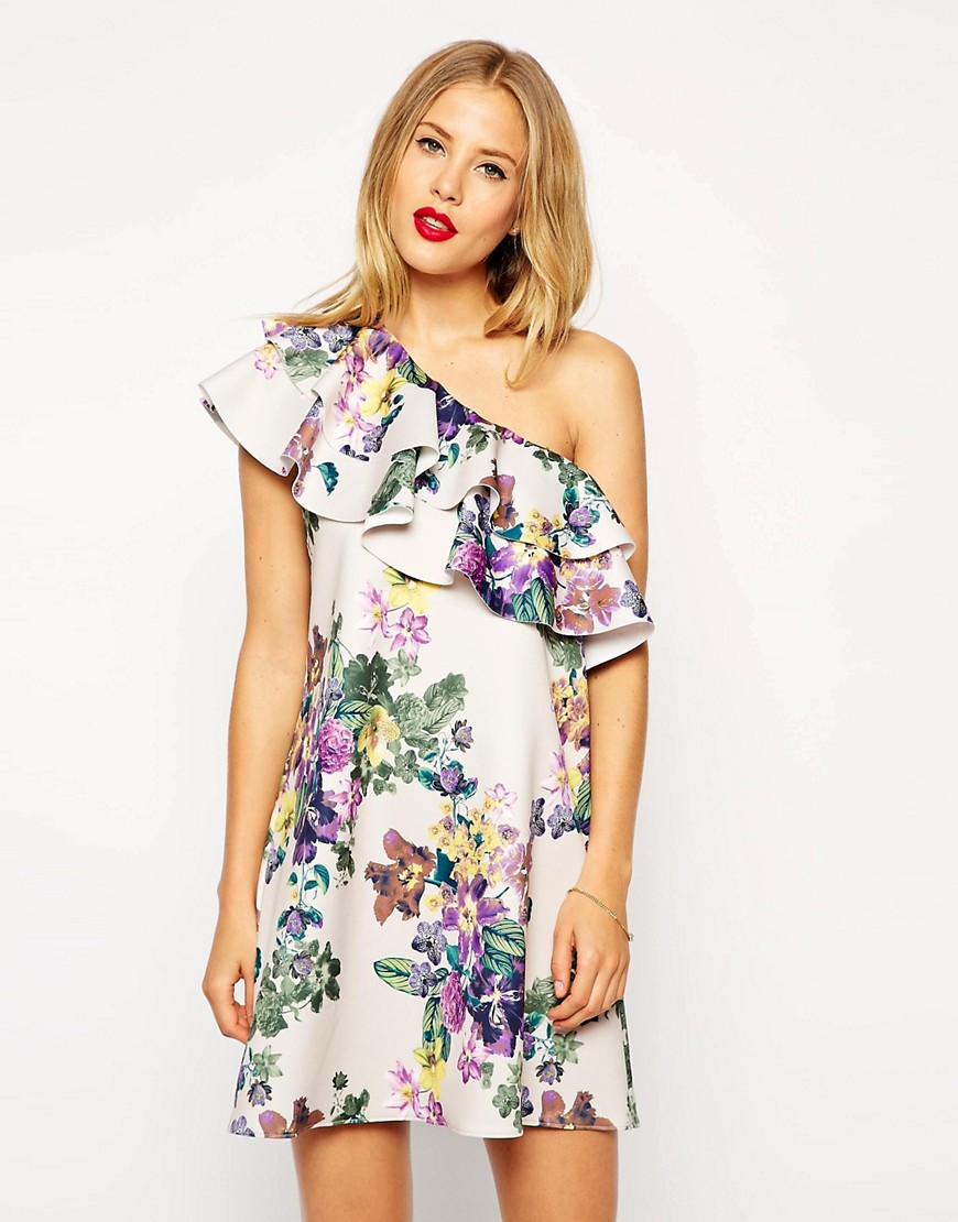 :Scuba swing dress in floral print