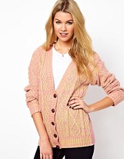 Glamorous Boyfriend Cardigan In Neon Festival